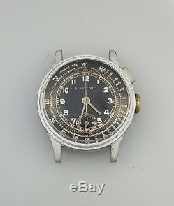 1930s VINTAGE WELSBRO ONE BUTTON CHRONOGRAPH WATCH A MICHEL 1710 RARE