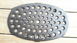 #7 Cahill Iron Works Chattanooga TN Oval Cast Iron Roaster with trivet. RARE HTF