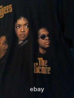 90s THE FUGEES LAURYN HILL The Score 1996 Tour Rare Vintage Rap Tee T Shirt XL