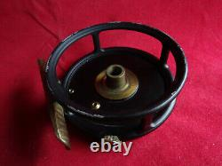 A Rare War Time Vintage Hardy 2 7/8 Trout Perfect Fly Reel Black Paint Finish