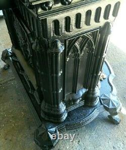 Antique 1881 Rare Ornate Cast Iron Parlor Stove By D & J Wright Louisville KY