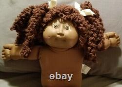Cabbage Patch RARE AA Black Popcorn Double Pony CPK Doll