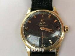 Extremely Rare OMEGA Globemaster Waffle Dial Wristwatch 1957 Swiss Made Service