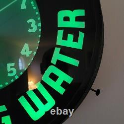 GLO-DIAL, BELFAST SPARKLING WATER-NEON CLOCK- VINTAGE, VERY RARE-1940's-1950's