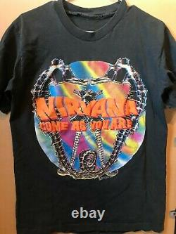 NIRVANA Come As You Are vintage t shirt 1992 By Giant Size L RARE grunge