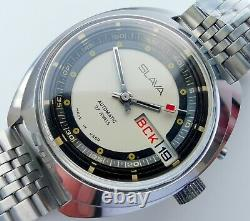 New Automatic Old Stock Slava 2427 Double Calendar Ussr Made Watch Ultra Rare
