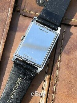 Omega Marine Standard Wristwatch Reference 3683. Rare Fab Suisse Black Dial