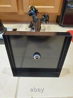 RARE Art Deco Three Graces Floor Ashtray Stands Frankart Black with Marble