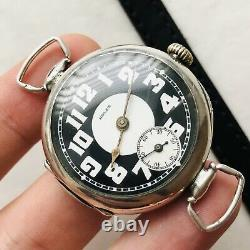 RARE ROLEX WWI Trench Military Watch Two-Tone Silver 875 Swiss VTG 10's Antique