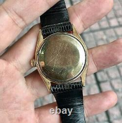 RARE Vintage 1950's ROLEXs Oyster Perpetual 1005 1002 14k Gold 34mm Watch