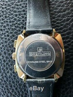 Rare Breitling Top Time Indy 500 Manual Wind Swiss Made Watch Reverse Panda 71