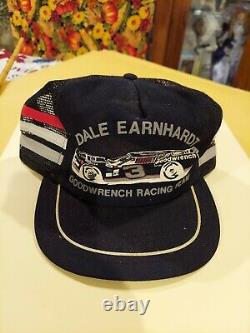 Rare Dale Earnhardt #3 GoodWrench 3 Stripe Trucker Hat Snapback USA Racing