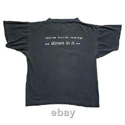 Rare Single Stitch Vintage Nine Inch Nails Down In It T-Shirt Size Large