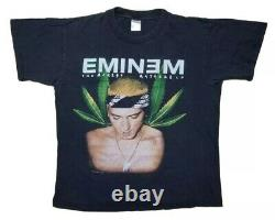 Rare Vintage 2002 Eminem The Marshall Mathers LP Weed Graphic T Shirt Rap Tee XL
