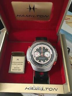 Rare Vintage 48mm Hamilton Count-Down GMT Chrono-Matic World Timer Watch