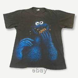 Rare Vintage Cookie Monster Big Face Tee