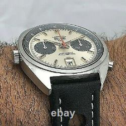 Rare Vintage Heuer Carrera Ref 1153 S Automatic Chronograph Cal 11 First Execut