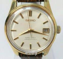 Rare Vintage! KING SEIKO 4402-8000 Hand-winding 25 Jewels Mens Watch from Japan