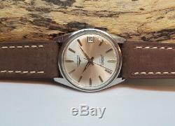 Rare Vintage Longines Conquest Automatic Silver Dial Man's Watch