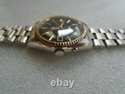 Rare Vintage Ss Oyster Model Ricoh Black Dial Day/date Men's Automatic Watch