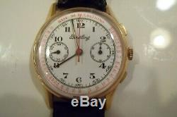 Reduced, Vintage Breitling Doctor's Watch Chronograph Rare 1940s / 1950s