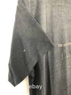 Vintage 1970s TWILIGHT ZONE T Shirt RARE! Large Faded Black Paper Thin Tee