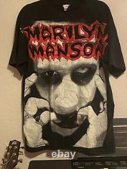 Vintage 90s Rare Marilyn Manson T-Shirt, OVERSIZED, ONE SIZE Pre-Owned
