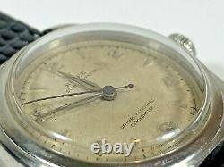 Vintage All Steel Rolex Automatic Oyster Bubble Back 5050 c. 1948 RARE