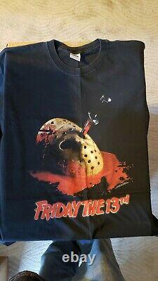 Vintage Friday the 13th Jason vintage t shirt XL black made in hell RARE