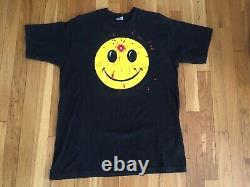 Vintage Smiley Face Head Shot Killed in T-Shirt VERY RARE single stitch Large