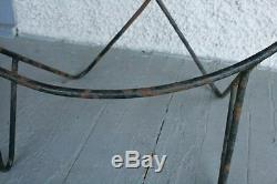 2 Fer Forgé Vintage Moderne Cadres. Chaise Hoop Frederick Weinberg Style. Rare