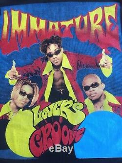 90 Vintage Bootleg Immature Rap T Slovers Groove Double Face Rare Graal Vtg