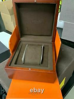 Hermes Rectangular Square Antique Runs Great 1930's Very Rare With Box