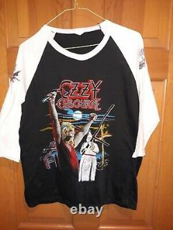Ozzy Osbourne Bootleg 1982 Diary Of A Madman Jersey Chemise Rare Vintage XL