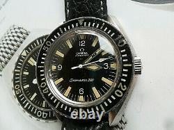 Rare 165.024 Vintage 1967 S/s Men's Omega Seamaster 300 Automatic Diver's Watch