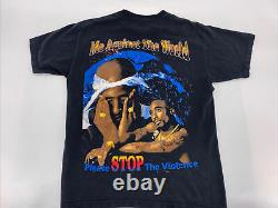 Rare 90s Vintage Tupac All Eyez On Me Rap Tee Shirt Double Sided Great Cond Med