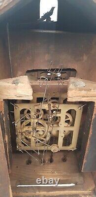 Rare Forêt Noire 8 Jours Moving Eye Image Cuckoo Clock