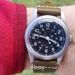 Vintage Hamilton H3 Mil-w-46374d Us Army Military Hack Watch The Ultimate Rare